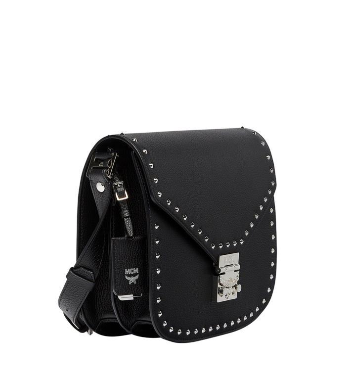 MCM Patricia Studded Outline Shoulder in Grained Leather MWS7APA16BK001 AlternateView2