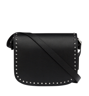 MCM Patricia Studded Outline Shoulder in Grained Leather MWS7APA16BK001 AlternateView4