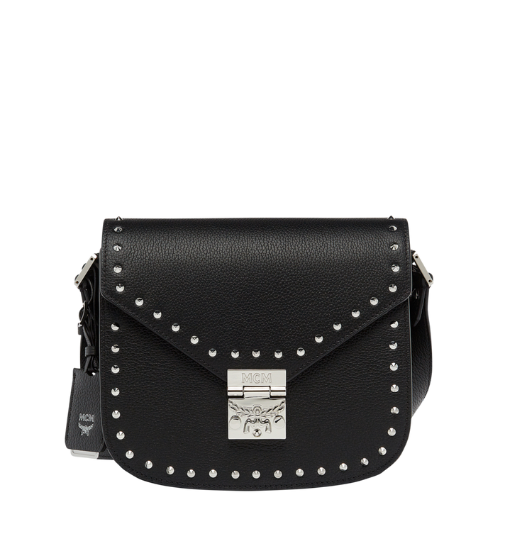MCM Patricia Studded Outline Shoulder in Grained Leather Alternate View