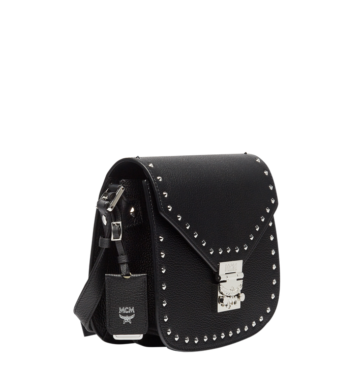 MCM Patricia Studded Outline Shoulder in Grained Leather MWS7APA17BK001 AlternateView2