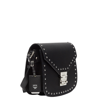 MCM Patricia Studded Outline Shoulder in Grained Leather Alternate View 2