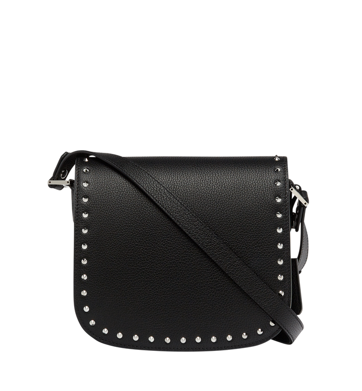 MCM Patricia Studded Outline Shoulder in Grained Leather MWS7APA17BK001 AlternateView4