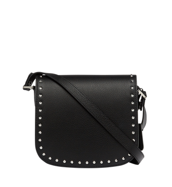 MCM Patricia Studded Outline Shoulder in Grained Leather Alternate View 4