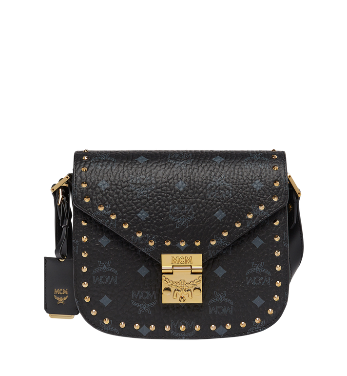 MCM Patricia Studded Outline Shoulder in Visetos AlternateView