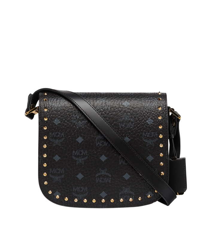 MCM Patricia Studded Outline Shoulder in Visetos AlternateView4