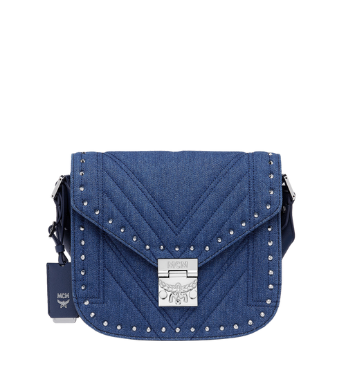 Patricia Studded Outline Shoulder in Denim
