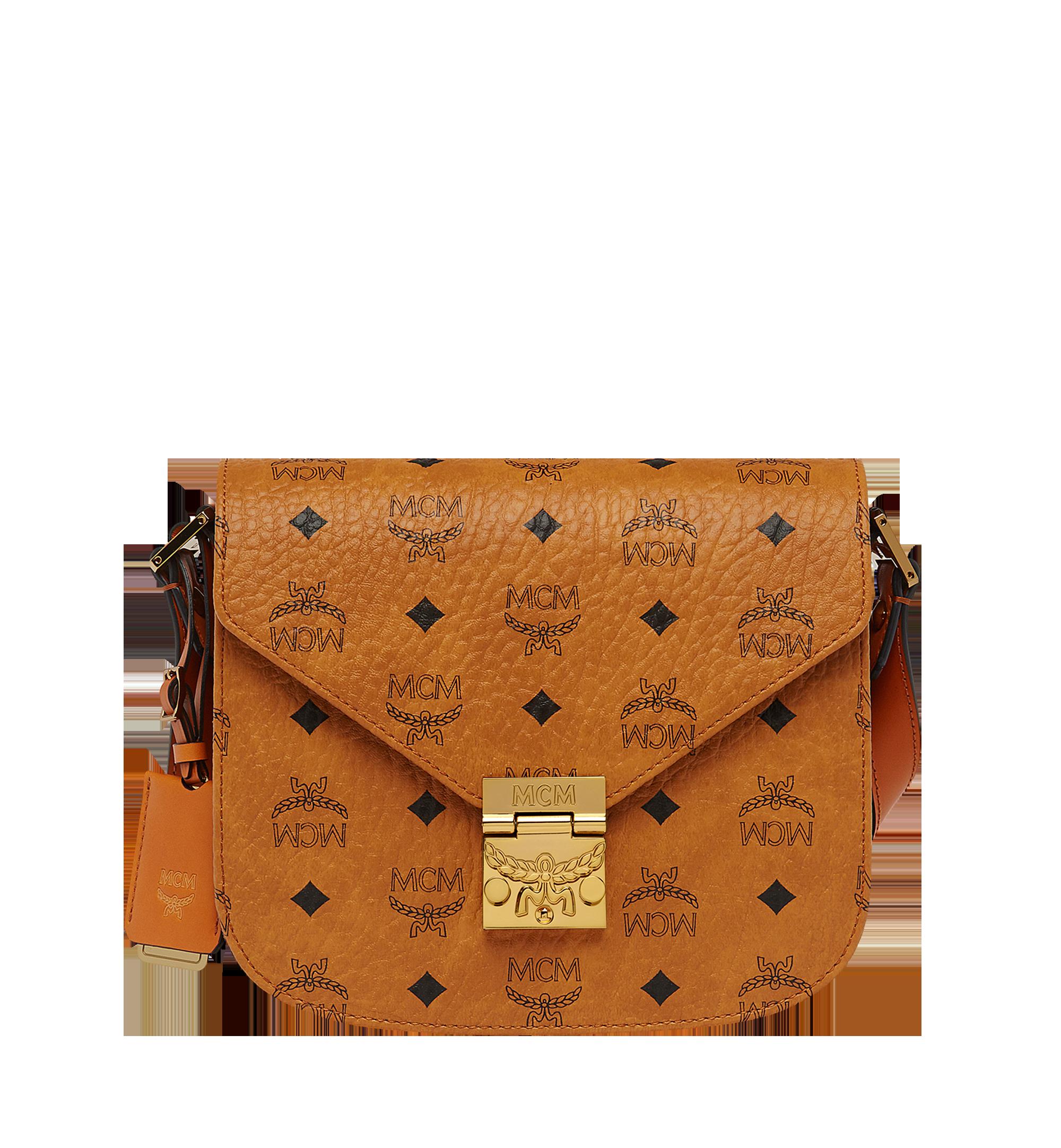 MCM Patricia Shoulder Bag in Visetos Cognac MWS8APA03CO001 Alternate View 1