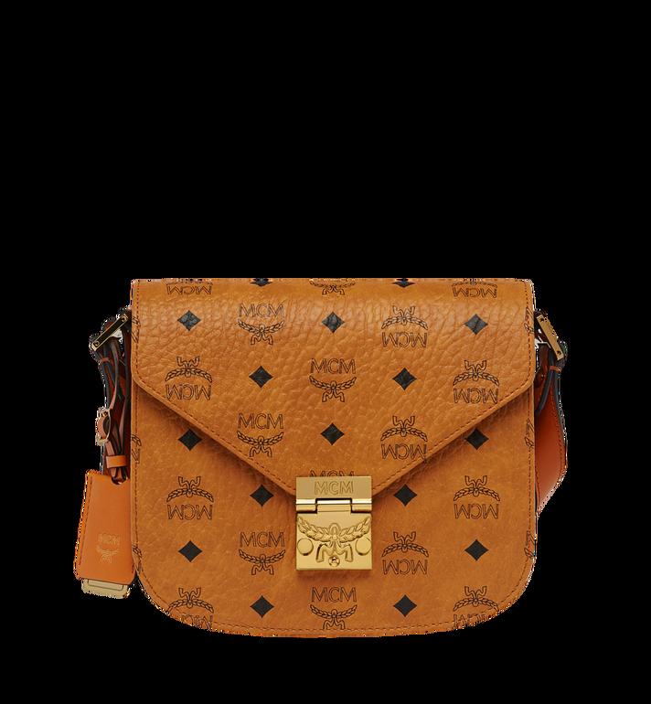 0946a59f3b79e Small Patricia Shoulder Bag In Visetos Cognac Mcm