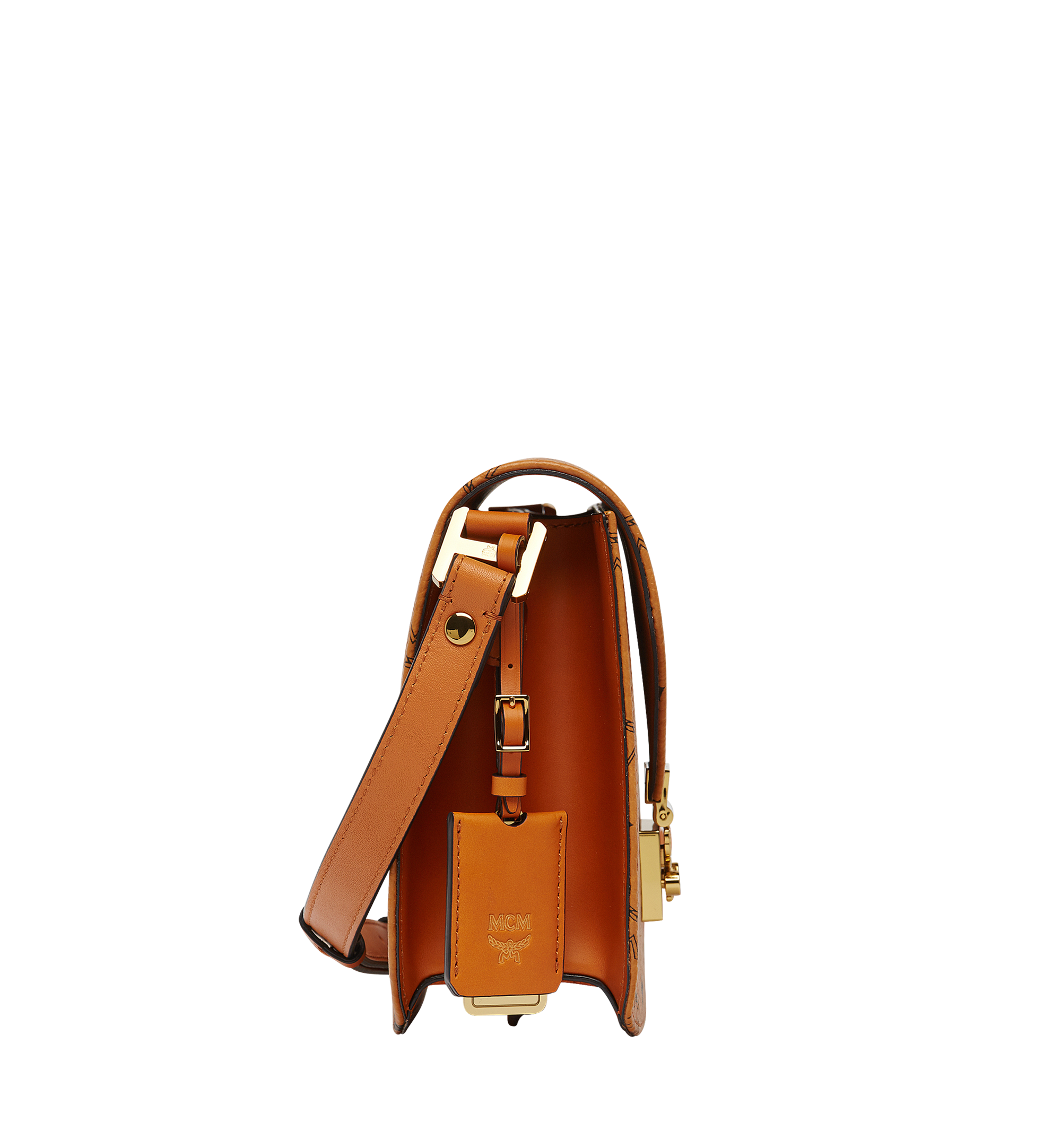 MCM Patricia Shoulder Bag in Visetos Cognac MWS8APA03CO001 Alternate View 2