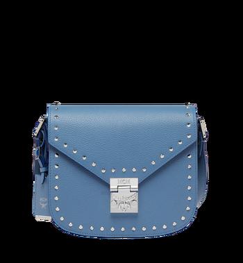 MCM Patricia Shoulder Bag in Studded Outline Leather MWS8APA17HF001 AlternateView