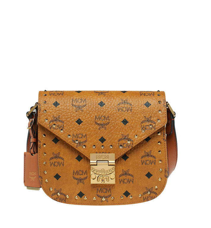 MCM Patricia Shoulder Bag in Studded Outline Visetos Alternate View