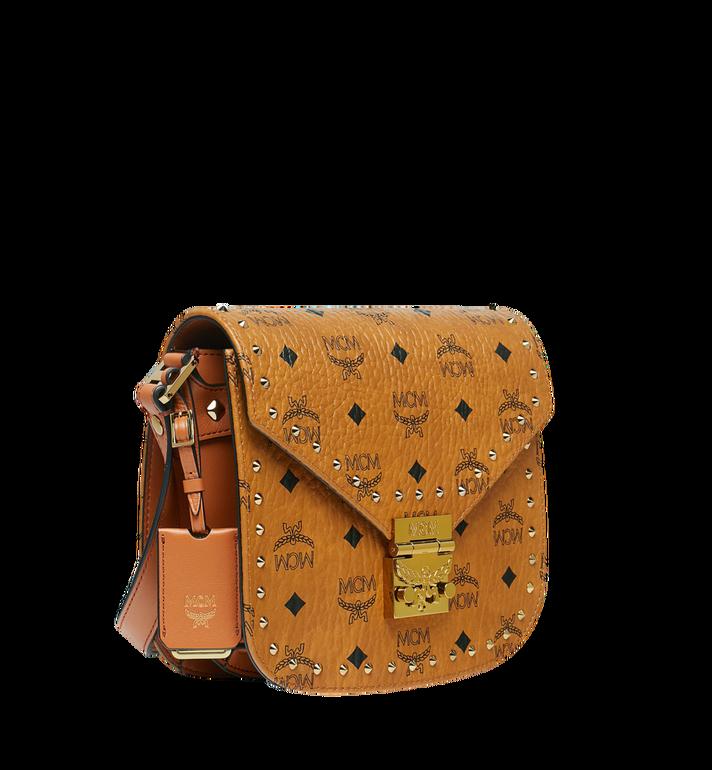 MCM Patricia Shoulder Bag in Studded Outline Visetos Cognac MWS8APA24CO001 Alternate View 2
