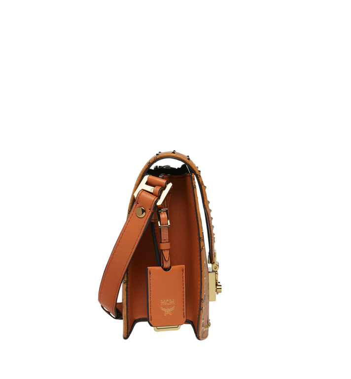 MCM Patricia Shoulder Bag in Studded Outline Visetos Cognac MWS8APA24CO001 Alternate View 3