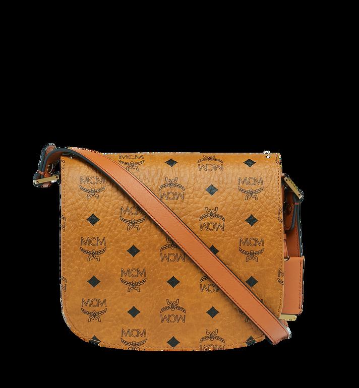 MCM Patricia Shoulder Bag in Studded Outline Visetos Cognac MWS8APA24CO001 Alternate View 4
