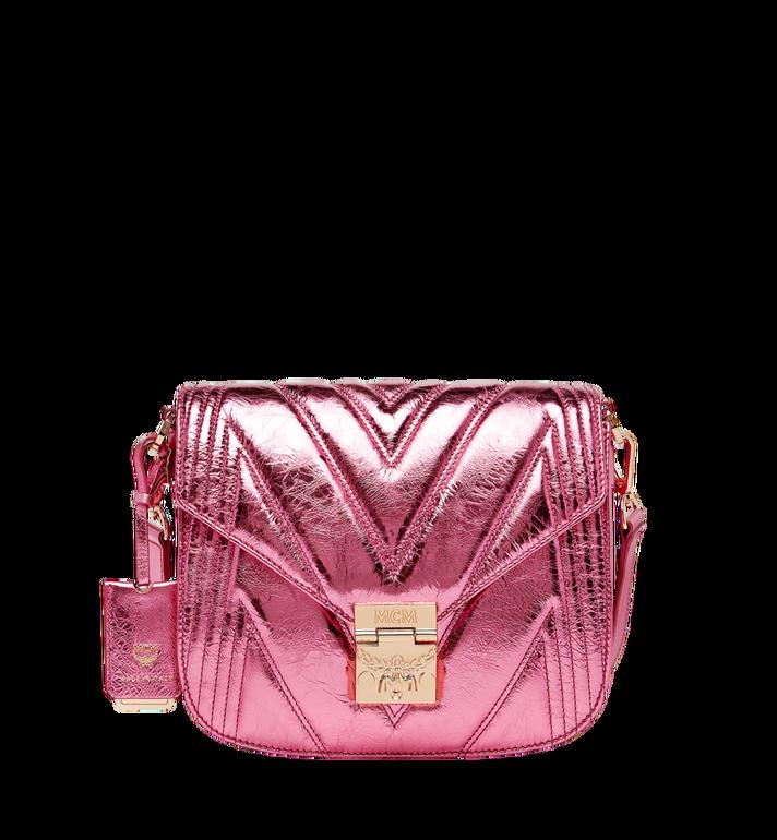 MCM Patricia Shoulder Bag in Quilted Metallic Leather MWS8APA71UK001 AlternateView