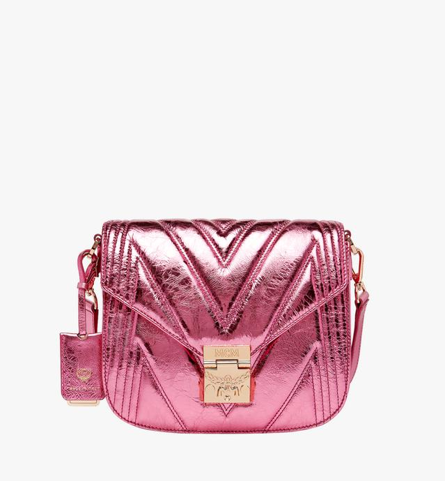 Patricia Shoulder Bag in Quilted Metallic Leather