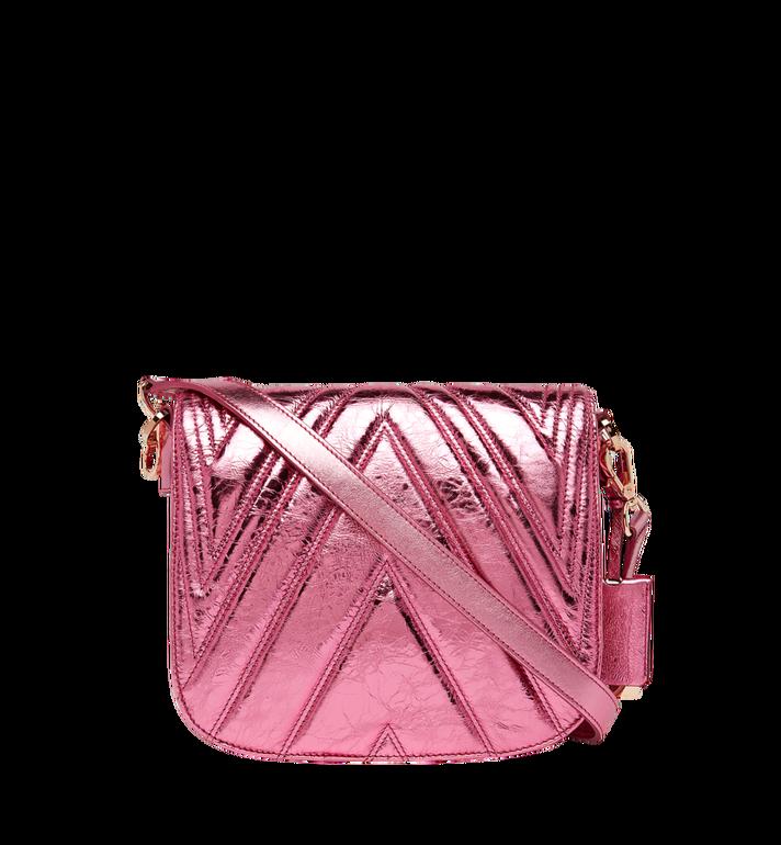 MCM Patricia Shoulder Bag in Quilted Metallic Leather MWS8APA71UK001 AlternateView4