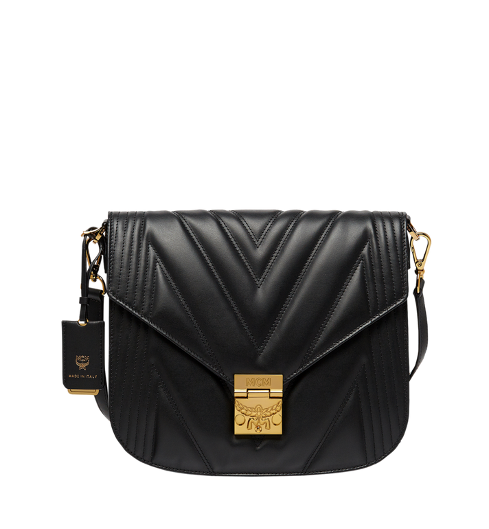 MCM Patricia Shoulder Bag in Quilted Leather Alternate View