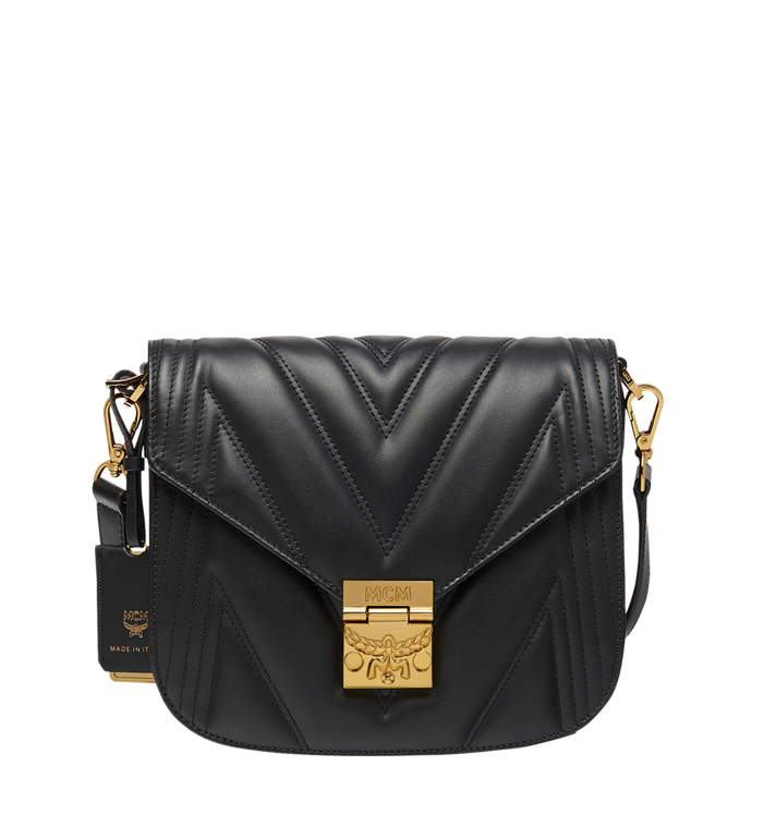 MCM Patricia Shoulder Bag in Quilted Leather MWS8APA81BK001 AlternateView