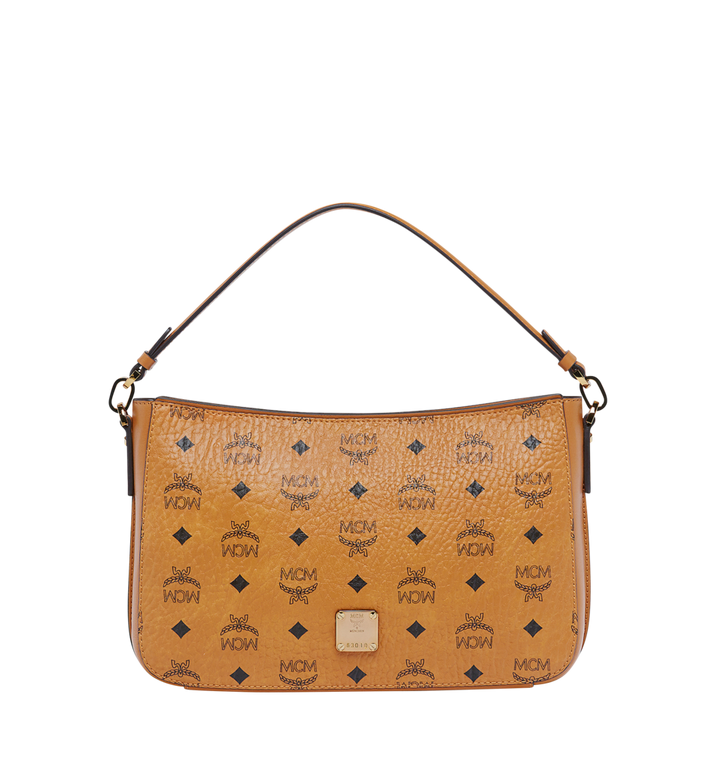 MCM Essential Shoulder Bag in Visetos Original MWS8ASE72CO001 AlternateView