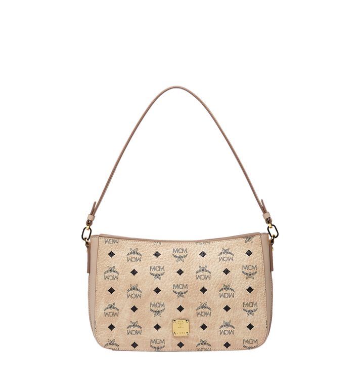 MCM Essential Shoulder Bag in Visetos Original MWS8ASE72IG001 AlternateView