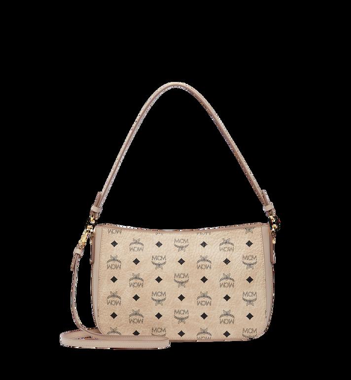 MCM Essential Shoulder Bag in Visetos Original MWS8ASE72IG001 AlternateView4
