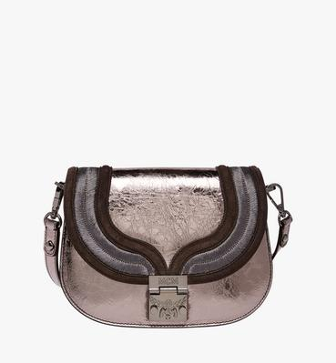 Trisha Shoulder Bag in Metallic Leather