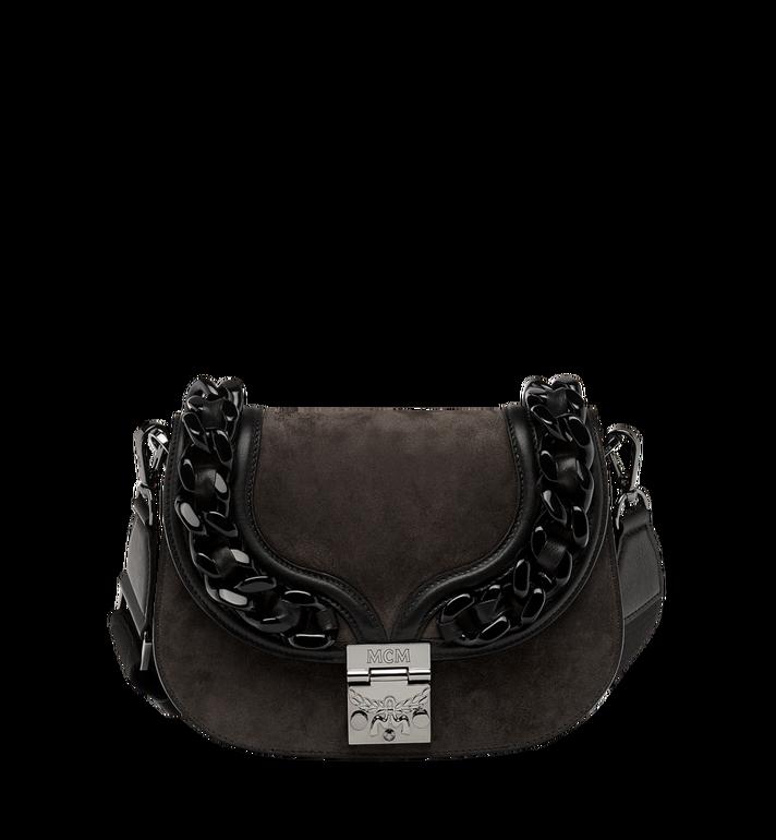 MCM Trisha Chain Shoulder Bag in Suede MWS8ATS21EP001 AlternateView