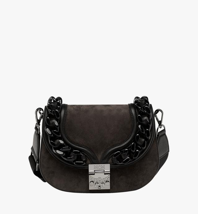 Trisha Chain Shoulder Bag in Suede