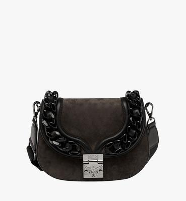 Trisha Chain Shoulder Bag in Suede