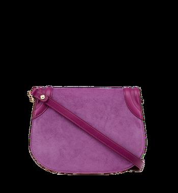 MCM Trisha Shoulder Bag in Suede MWS8ATS94UK001 AlternateView4