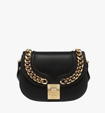 Trisha Chain Schultertasche aus feingemasertem Leder