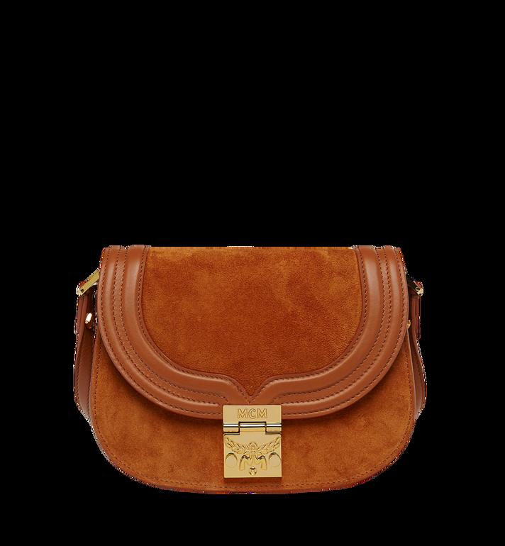 MCM Trisha Shoulder Bag in Suede MWS8STS94CO001 AlternateView