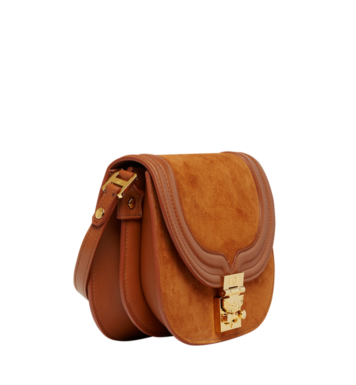 MCM Trisha Shoulder Bag in Suede MWS8STS94CO001 AlternateView2