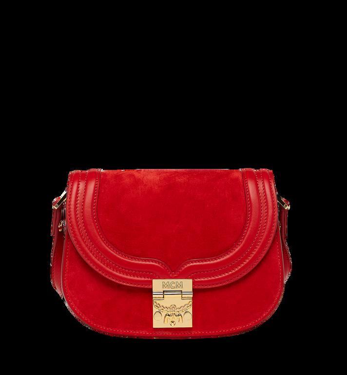 MCM Trisha Shoulder Bag in Suede MWS8STS94RE001 AlternateView