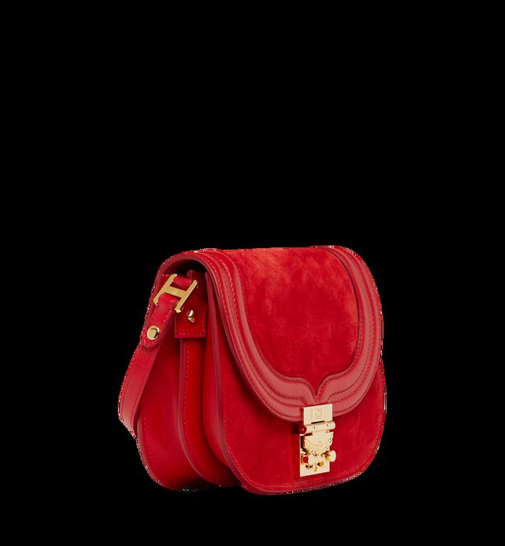 MCM Trisha Shoulder Bag in Suede MWS8STS94RE001 AlternateView2