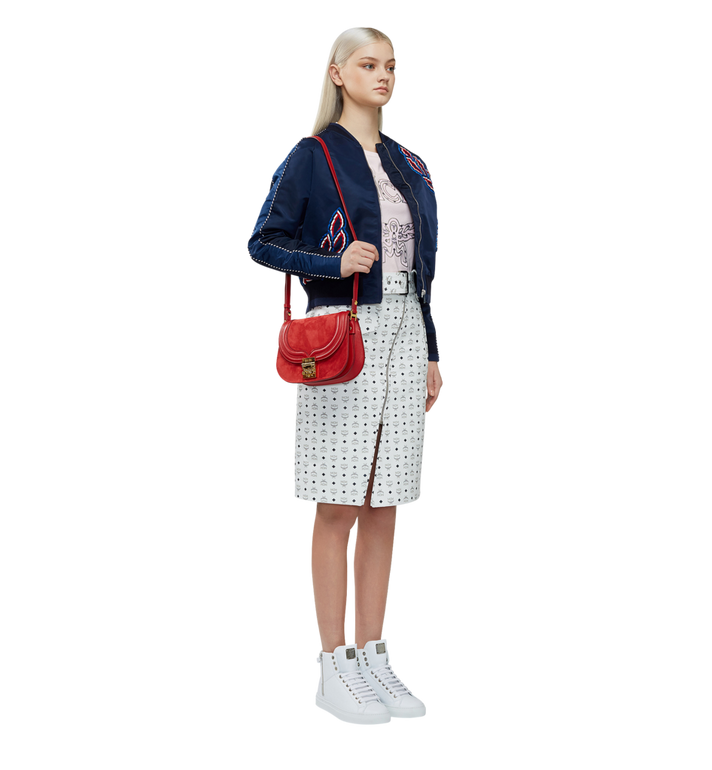 MCM Trisha Shoulder Bag in Suede MWS8STS94RE001 AlternateView6