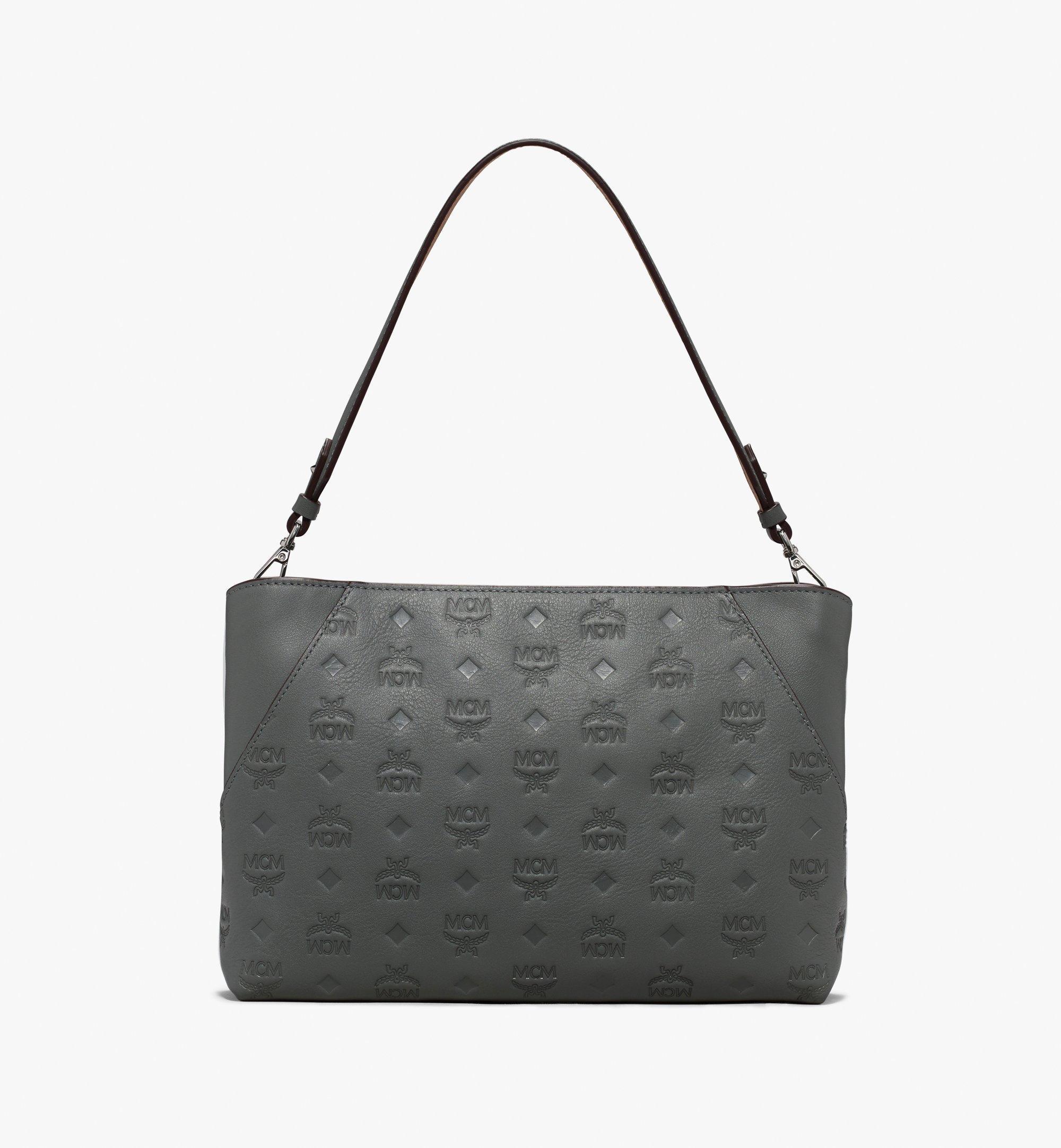 MCM Klara Shoulder Bag Grey MWS9AKM79EC001 Alternate View 1