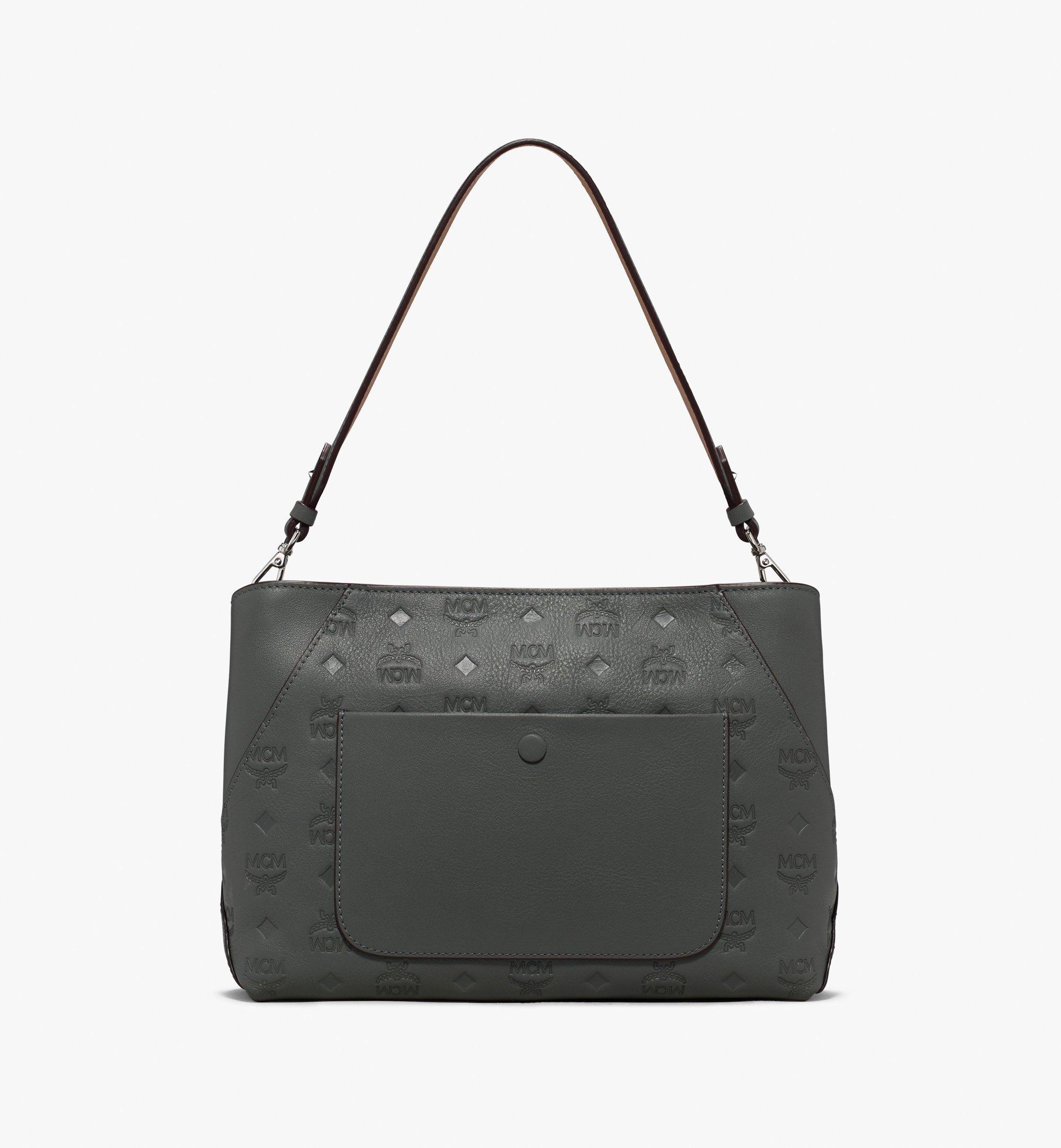 MCM Klara Shoulder Bag Grey MWS9AKM79EC001 Alternate View 2