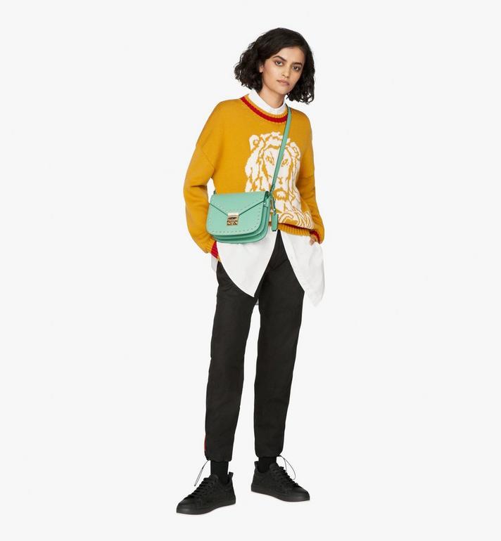 MCM Patricia Shoulder Bag in Studded Park Ave Leather Alternate View 4