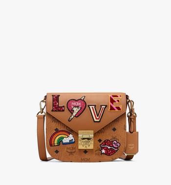 MCM Patricia Shoulder Bag in Love Patch Visetos Alternate View