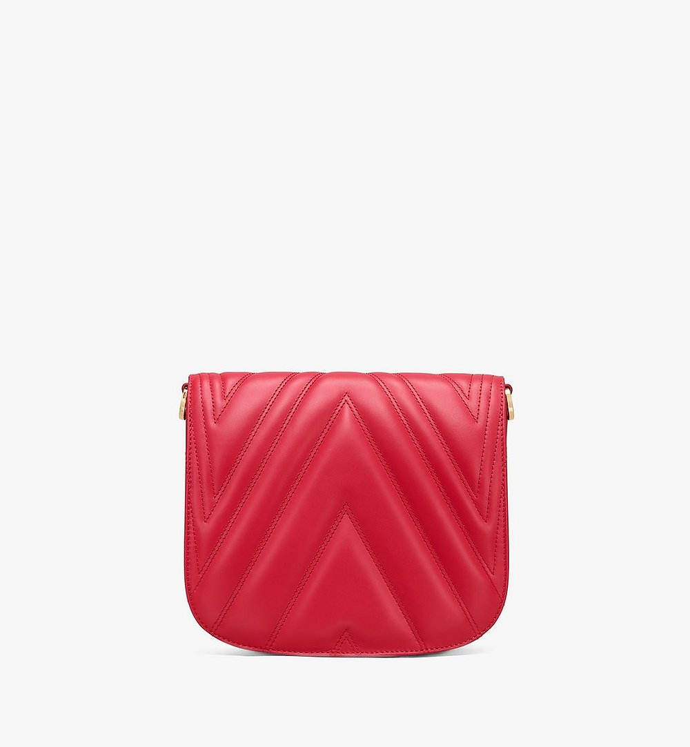 MCM Patricia Shoulder Bag in Quilted Leather Red MWS9APA81RU001 Alternate View 2