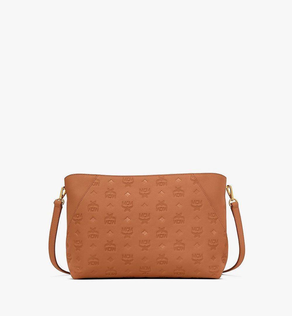 MCM Klara Shoulder Bag in Monogram Leather Cognac MWS9SKM79CO001 Alternate View 1