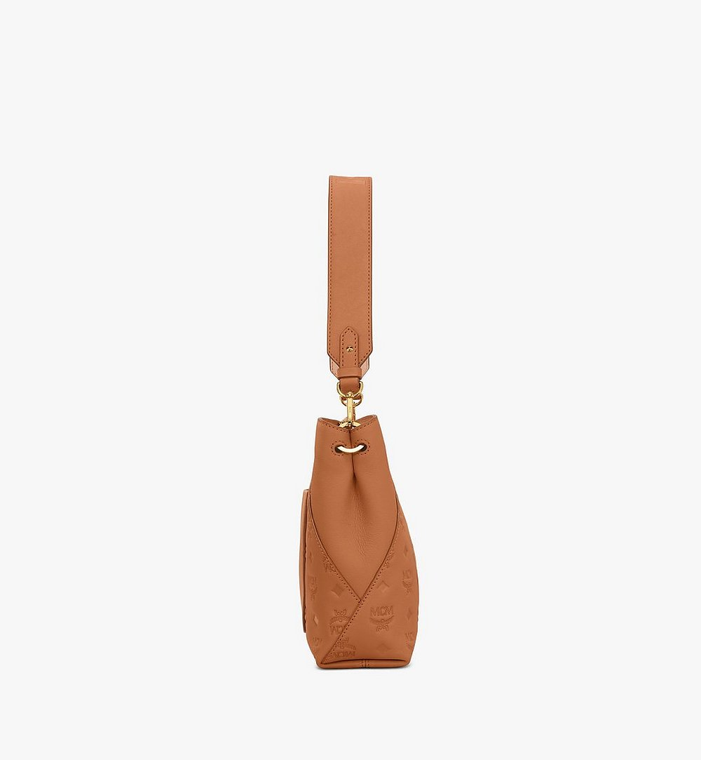 MCM Klara Shoulder Bag in Monogram Leather Cognac MWS9SKM79CO001 Alternate View 2