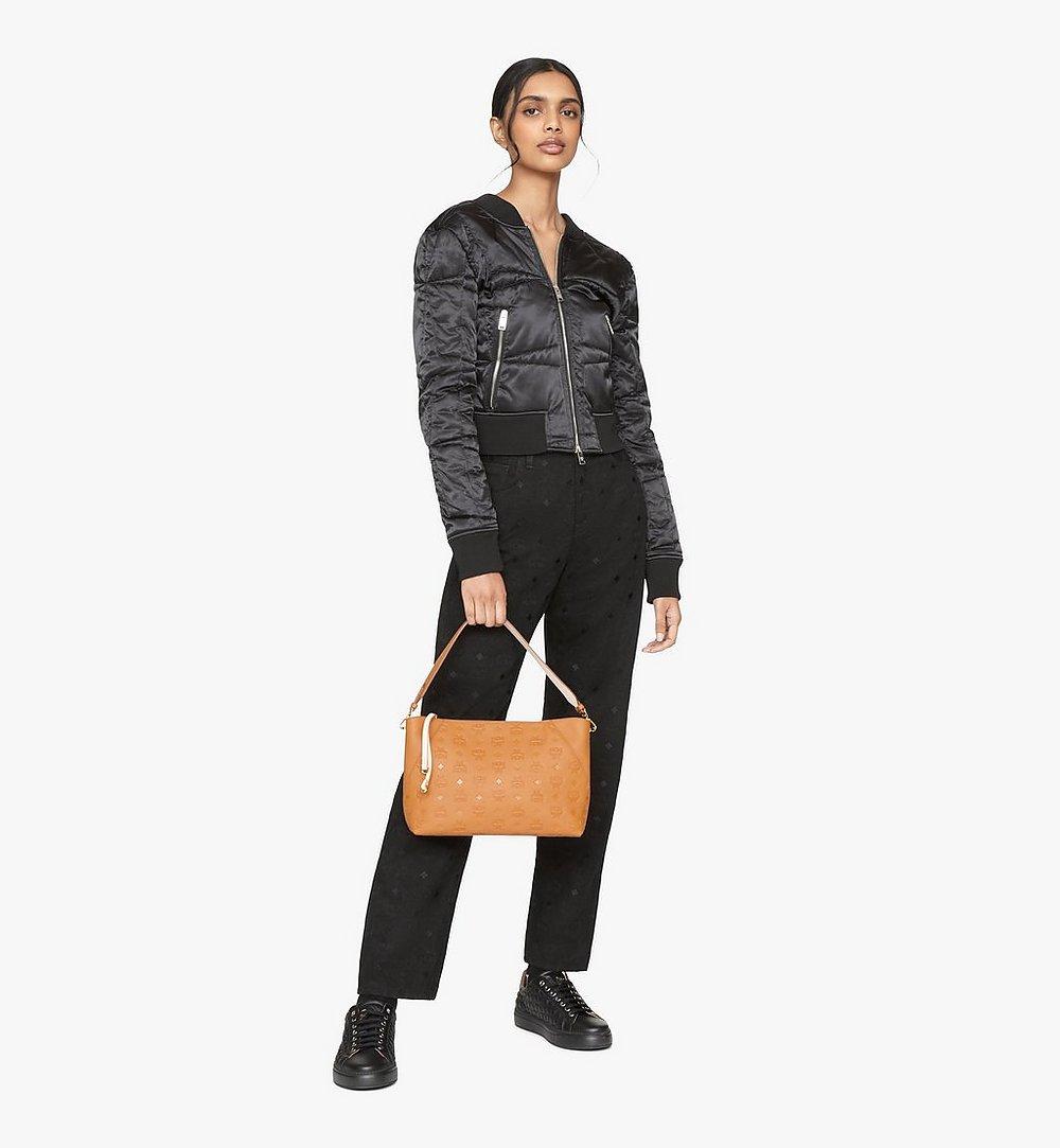 MCM Klara Shoulder Bag in Monogram Leather Cognac MWS9SKM79CO001 Alternate View 3