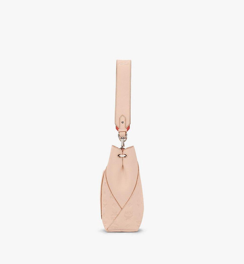 MCM Klara Shoulder Bag in Monogram Leather Beige MWS9SKM79II001 Alternate View 2