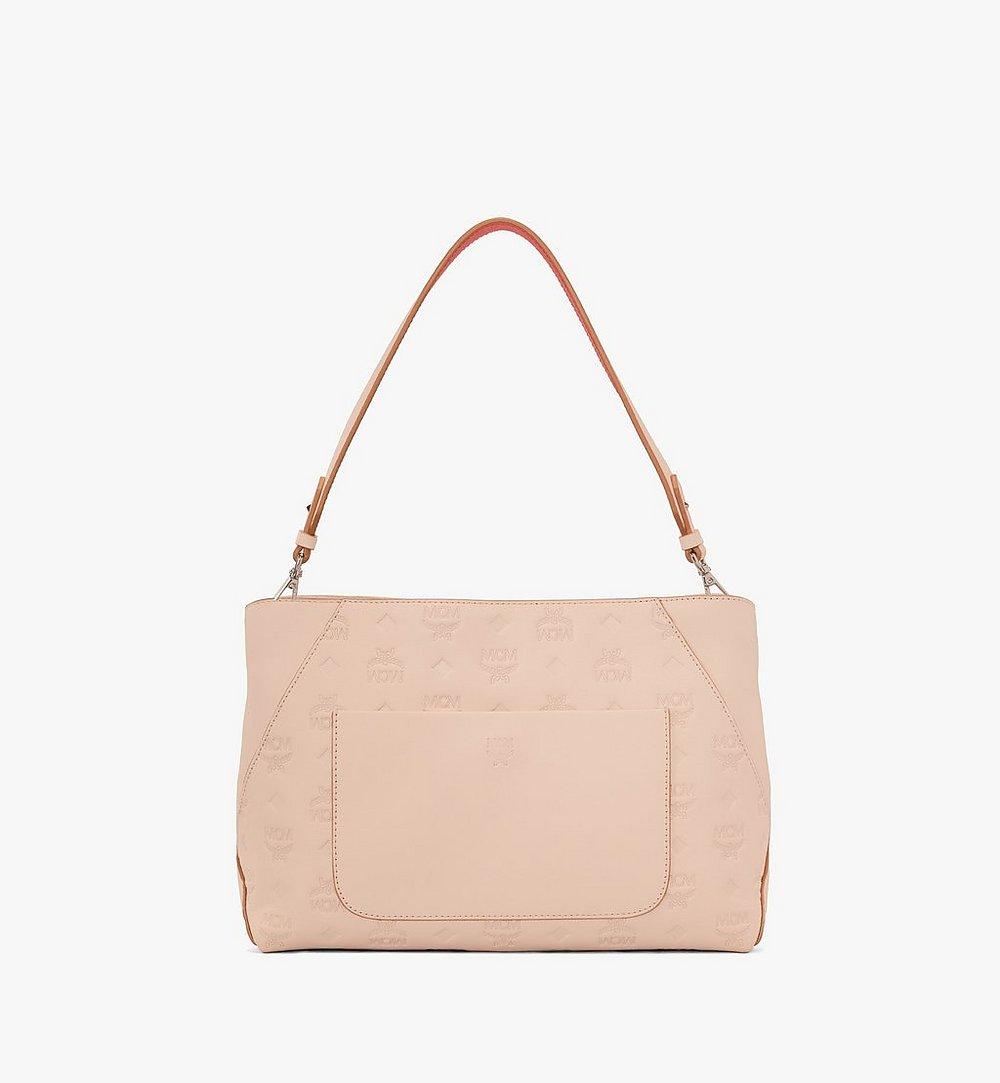 MCM Klara Shoulder Bag in Monogram Leather Beige MWS9SKM79II001 Alternate View 3