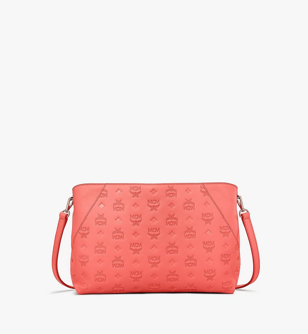 MCM Klara Shoulder Bag in Monogram Leather Red MWS9SKM79O3001 Alternate View 1