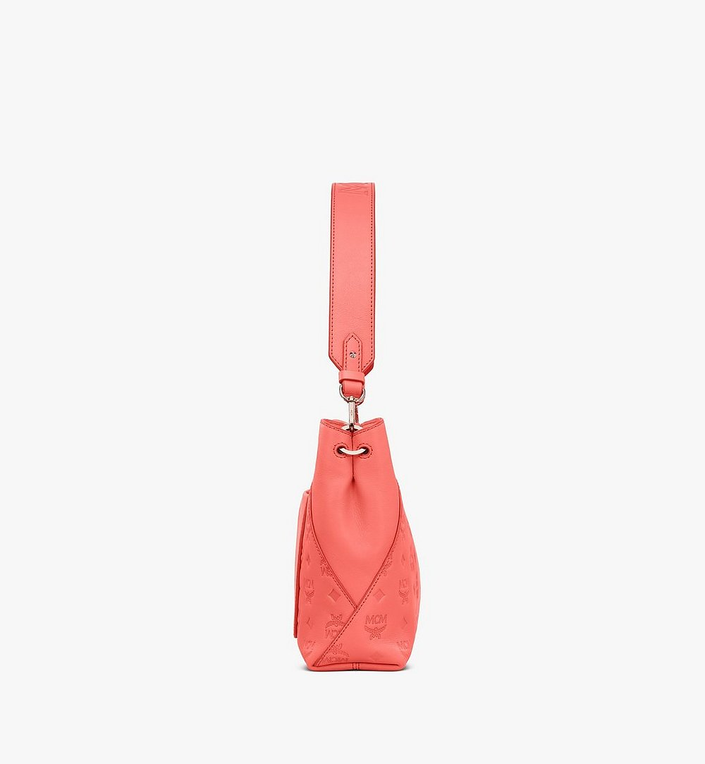 MCM Klara Shoulder Bag in Monogram Leather Red MWS9SKM79O3001 Alternate View 2