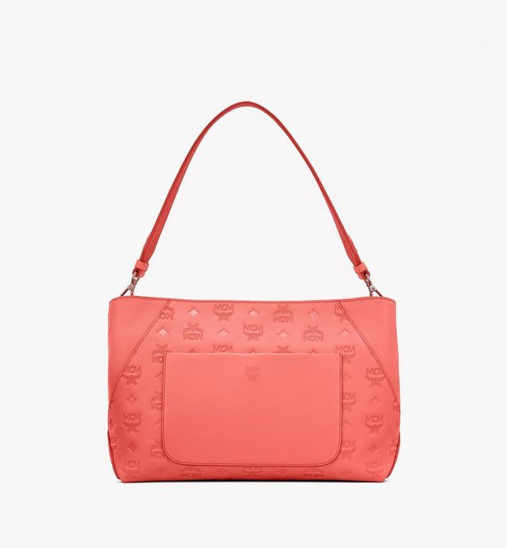 MCM Klara Shoulder Bag in Monogram Leather Pink MWS9SKM79O3001 Alternate View 4